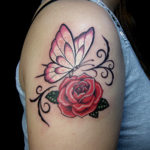 butterfly&rose