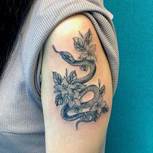 Snake, Flower